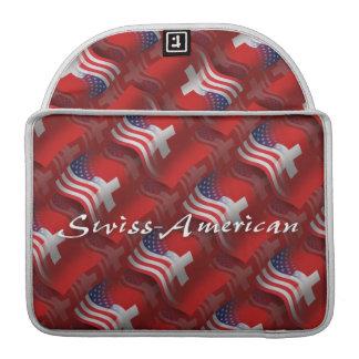 Swiss-American Waving Flag Sleeves For MacBook Pro