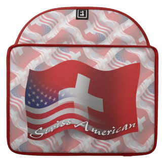 Swiss-American Waving Flag Sleeve For MacBooks