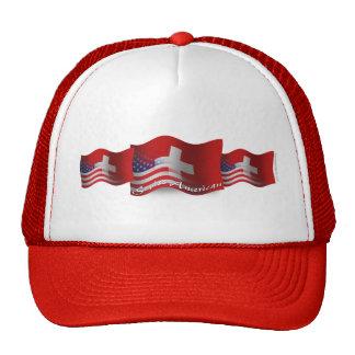 Swiss-American Waving Flag Mesh Hat