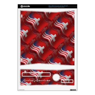 Swiss-American Waving Flag Xbox 360 S Skin