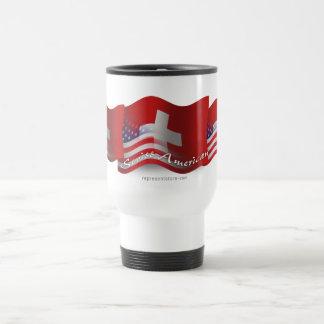 Swiss-American Waving Flag Travel Mug