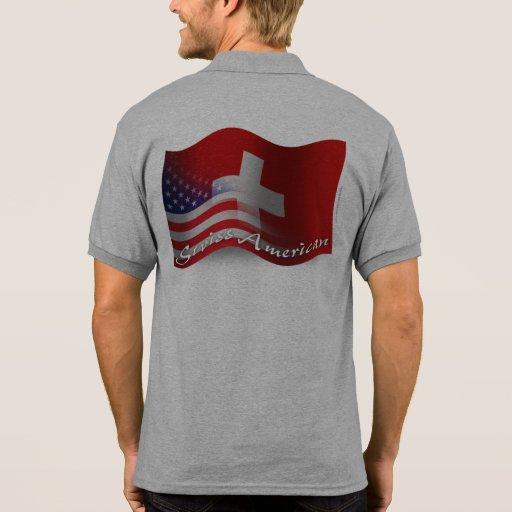Swiss-American Waving Flag Shirt