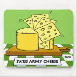 Swiss Army Cheese Mousepad by Swisstoons