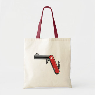 Swiss Army Gun Tote Bag