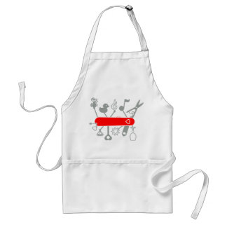 Swiss Army Knife for Lovers Adult Apron