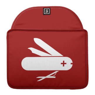 Swiss Army Knife Pictogram MacBook Pro Sleeve