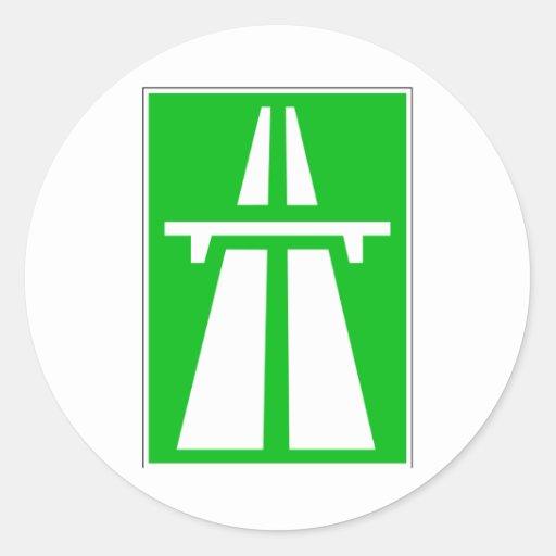 Swiss Autobahn Sign StickersAutobahn Sign