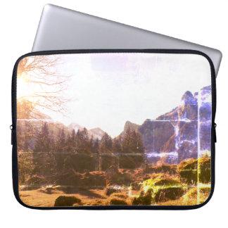 Swiss Autumn Mountains Laptop Case