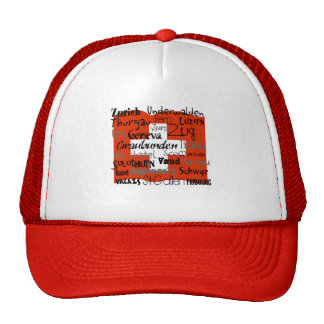 Swiss Cantons Cap Mesh Hat