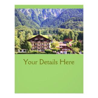 "Swiss chalet 8.5"" x 11"" flyer"