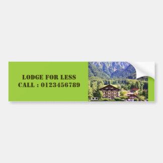 Swiss chalet bumper sticker