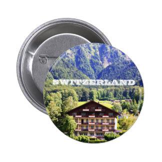 Swiss chalet pin