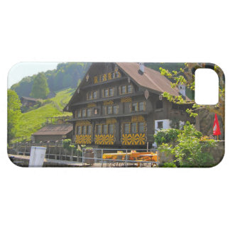Swiss chalet by the lake iPhone SE/5/5s case
