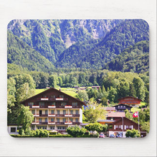 Swiss chalet mouse pad