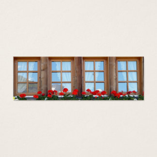 Swiss Chalet Window photo bookmark set Mini Business Card
