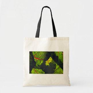 Swiss chard texture budget tote bag