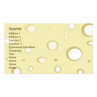 Swiss Cheese - Business Double-Sided Standard Business Cards (Pack Of 100)