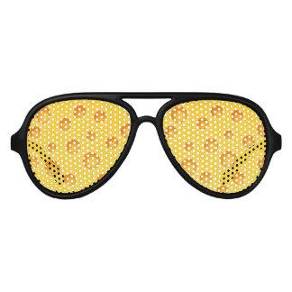 Swiss Cheese Cheezy Texture Pattern Aviator Sunglasses