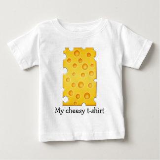 Swiss Cheese Cheezy Texture Pattern Baby T-Shirt