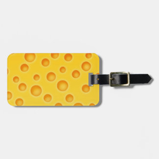 Swiss Cheese Cheezy Texture Pattern Bag Tag