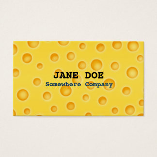 Swiss Cheese Cheezy Texture Pattern Business Card