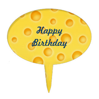 Swiss Cheese Cheezy Texture Pattern Cake Topper