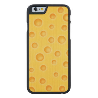 Swiss Cheese Cheezy Texture Pattern Carved Maple iPhone 6 Case
