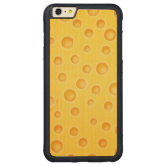 Swiss Cheese Cheezy Texture Pattern Carved Maple iPhone 6 Plus Bumper Case
