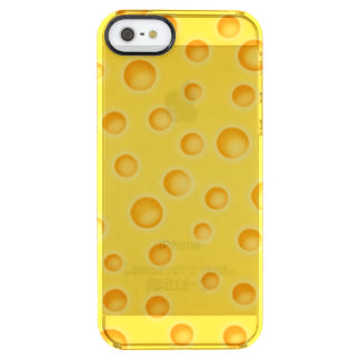 Swiss Cheese Cheezy Texture Pattern Clear iPhone SE/5/5s Case