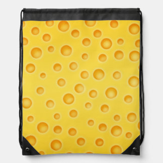 Swiss Cheese Cheezy Texture Pattern Drawstring Backpack