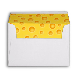 Swiss Cheese Cheezy Texture Pattern Envelope