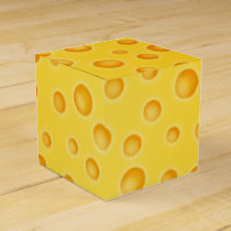Swiss Cheese Cheezy Texture Pattern Favor Box