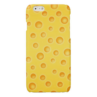 Swiss Cheese Cheezy Texture Pattern Glossy iPhone 6 Case