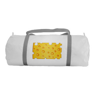 Swiss Cheese Cheezy Texture Pattern Gym Bag
