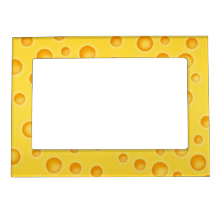 Swiss Cheese Cheezy Texture Pattern Magnetic Frame