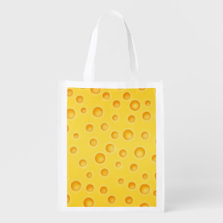 Swiss Cheese Cheezy Texture Pattern Market Totes