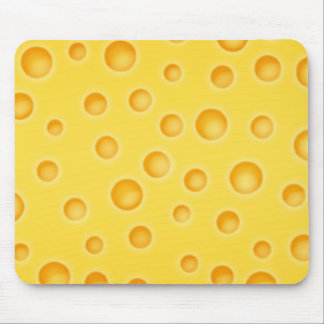 Swiss Cheese Cheezy Texture Pattern Mouse Pad