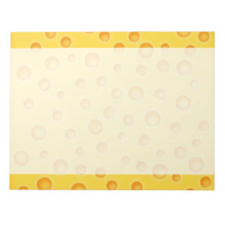 Swiss Cheese Cheezy Texture Pattern Notepad