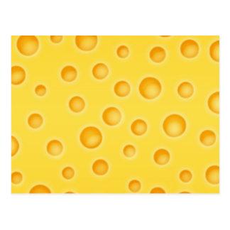 Swiss Cheese Cheezy Texture Pattern Postcard