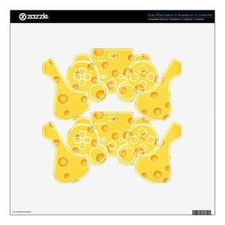 Swiss Cheese Cheezy Texture Pattern Skin For PS3 Controller