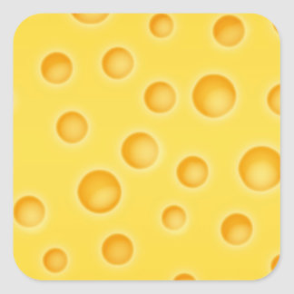 Swiss Cheese Cheezy Texture Pattern Square Sticker
