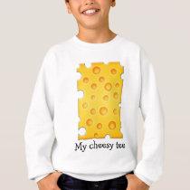 Swiss Cheese Cheezy Texture Pattern Sweatshirt