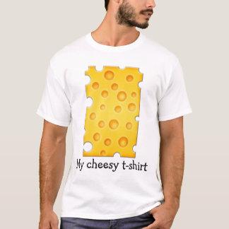 Swiss Cheese Cheezy Texture Pattern T-Shirt