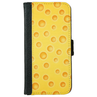 Swiss Cheese Cheezy Texture Pattern Wallet Phone Case For iPhone 6/6s