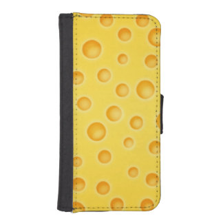 Swiss Cheese Cheezy Texture Pattern Wallet Phone Case For iPhone SE/5/5s