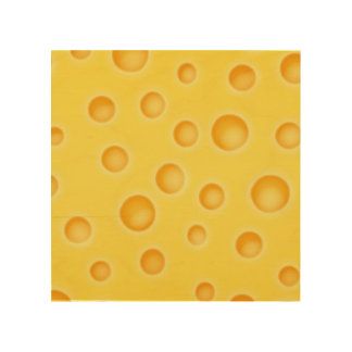 Swiss Cheese Cheezy Texture Pattern Wood Print