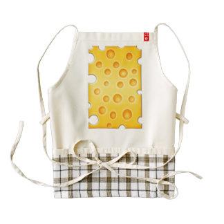 Swiss Cheese Cheezy Texture Pattern Zazzle HEART Apron