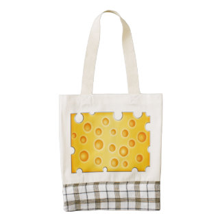 Swiss Cheese Cheezy Texture Pattern Zazzle HEART Tote Bag
