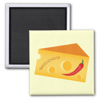 Swiss Cheese Fridge Magnet