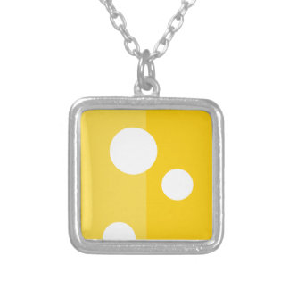 Swiss Cheese Funny Silver Square Necklace